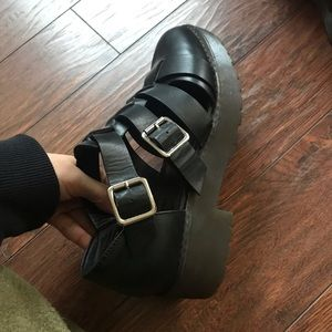 Buckle Platform Shoes